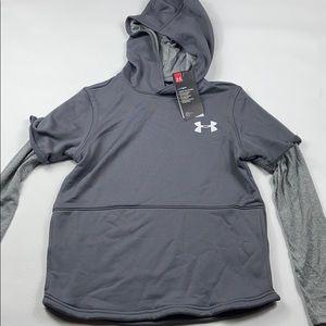 NWT Under Armour boys hooded sweatshirt YMD